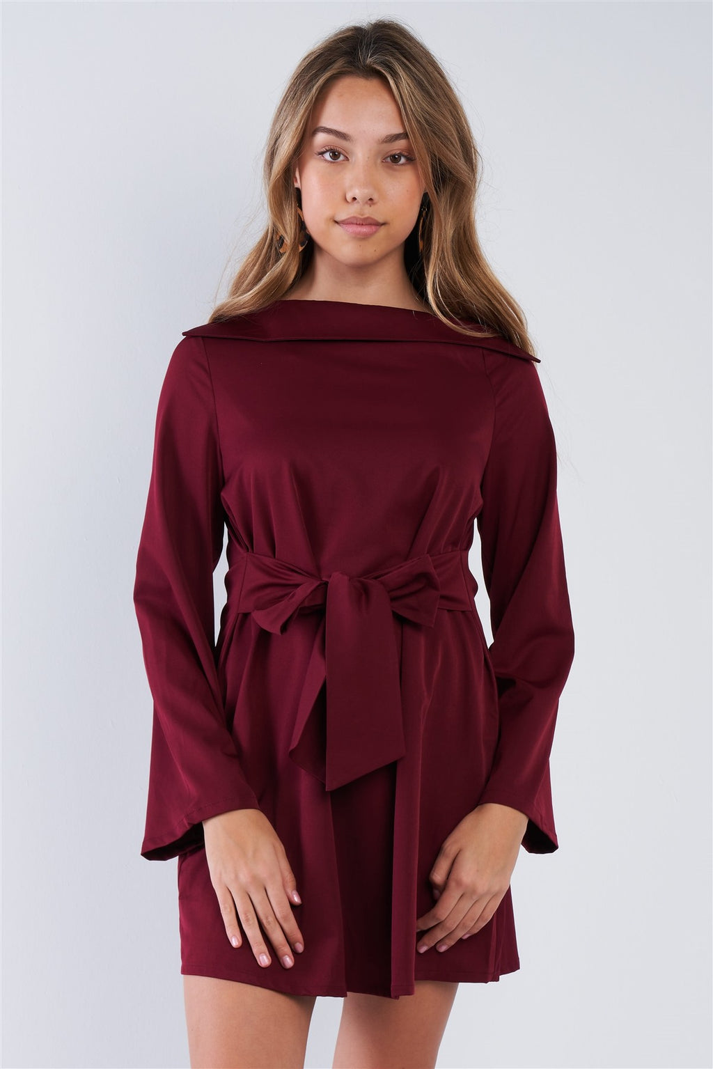 Front-tie Neck Dress