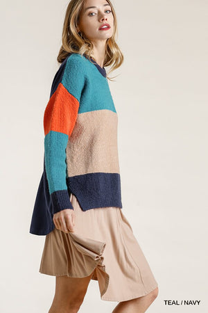 Knitted Colorblock Top
