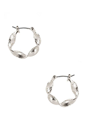 Metal Twist Hoop Earring