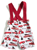 Christmas Suspender Shorts