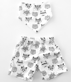 Sunny day shorts // Tribal animals set