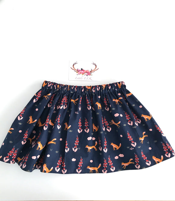 The navy fox also available as skirts