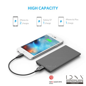 A1250 PowerCore Ultra Slim 5000 PowerIQ Portable Power Bank Charger - Anker Malaysia Official Store