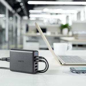 A2054 63W 5-Port PowerPort Speed 5 With Dual Quick Charge 3.0 Desktop Charger - Anker Malaysia Official Store