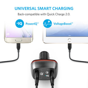 A2224 PowerDrive+ 2 Premium Car Charger with Dual Quick Charge 3.0 - Anker Malaysia Official Store