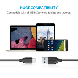 A8166 1.8m PowerLine Ultra Fast USB-C to USB 3.0 cable with 56KΩ Resistor Black - Anker Malaysia Official Store