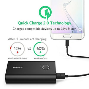 A1311 PowerCore+ 10050mAh Quick Charge 3.0 Power Bank - Black - Anker Malaysia Official Store