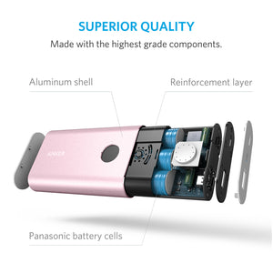 Anker A1311 PowerCore+ 10050 Aluminum Power Bank with Qualcomm Quick Charge 2.0 (Limited Edition) - Anker Malaysia Official Store