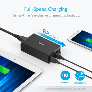 A2124 40W 8A PowerPort Power IQ 5-Port Desktop Charger - Anker Malaysia Official Store