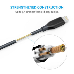 A8112 PowerLine MFI Lightning Cable (1.8m) - Anker Malaysia Official Store