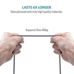 A8122 PowerLine+ MFI Double-braided nylon Lightning Cable (1.8m) - Anker Malaysia Official Store