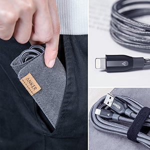 A8121 PowerLine+ MFI Double-braided nylon Lightning Cable (0.9m) - Anker Malaysia Official Store