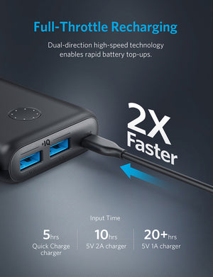 A1260 PowerCore II 20000mAh PowerIQ 2.0 Power Bank - Anker Malaysia Official Store