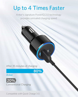 A2229 49.5W PowerDrive Speed+ 2 Car Charger With PD3.0 QC3.0