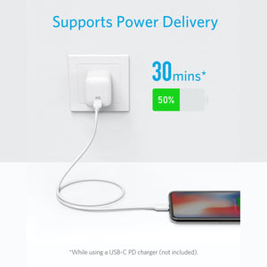 A8632 Powerline II USB C to Lightning Cable Supports Power Delivery Fast Charge