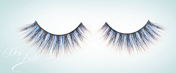Blue coloured festival lash from hey babe lashes