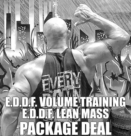 VOLUME TRAINING/ LEAN MASS BUNDLE 90 DAY 1 DAY FLASH SALE - Every Damn Day Fitness