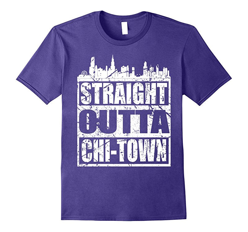 Straight outta chi town cool gift t shirt hoodie Chi town t shirts