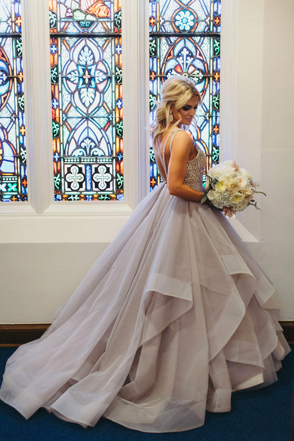 Wedding Dress layering fashion style