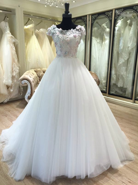 3D flower Applique Wedding dress