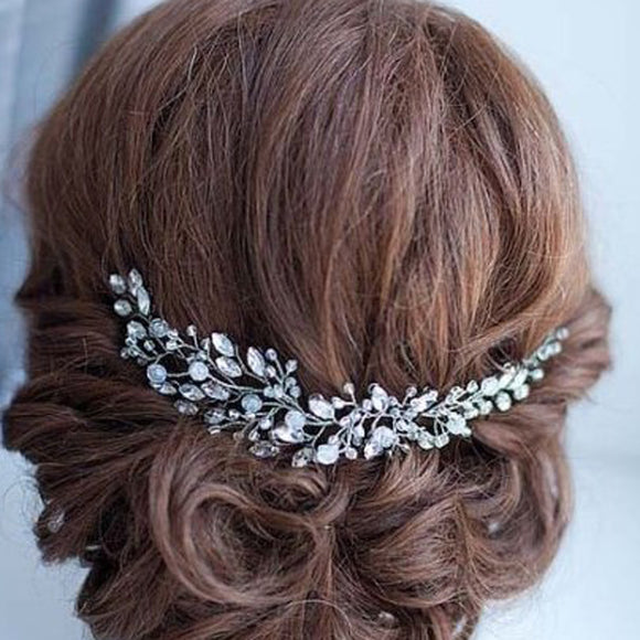 Handmade Beads Crystal Bridal Hair Flower Rhinestone