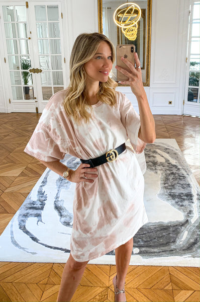 Robe t-shirt JUDY sable