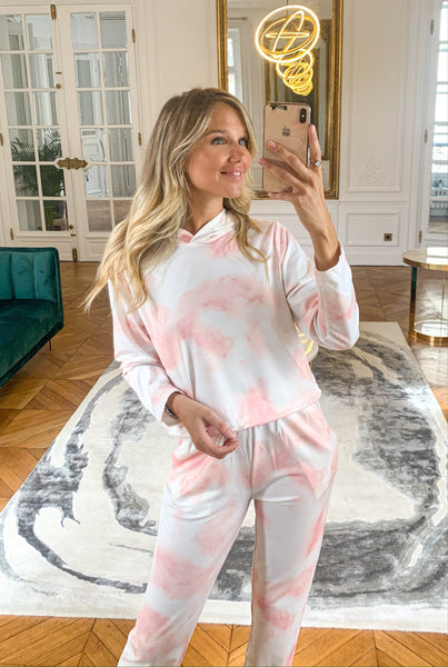 Ensemble tie and dye PINK