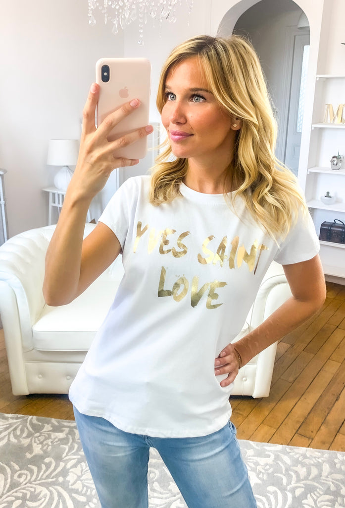 T-shirt YVES SAINT LOVE blanc