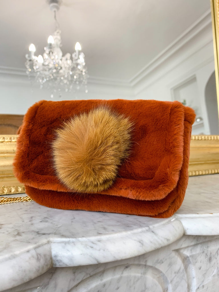 MARGAUX COLLECTION Sac CAMEL à pompon vegan