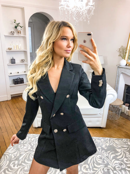 Robe blazer noir SPICY