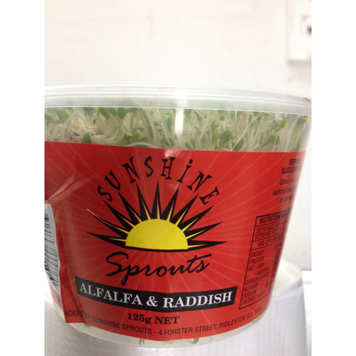 Sunshine Alfalfa & Raddish (125gm Punnet)