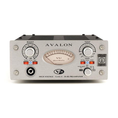 Avalon V5 Pure Class A DI-RE-Microphone Preamplifier Front