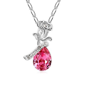 Classic Crystal from Swarovski Roses Necklaces Pendant
