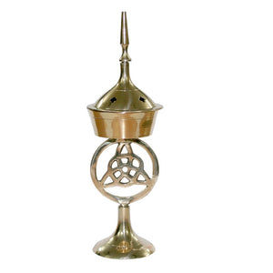 Triquetra Brass Incense Burner