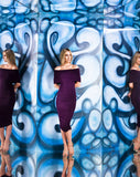 Kevan Jon Bonni Wiggle Off The Shoulder Dress
