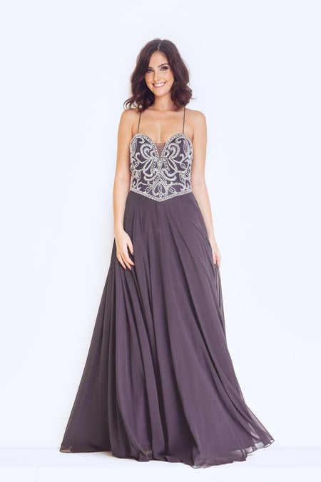 Forever Unique Esta. Dynasty London Dynasty 1013101 Long Clement Dress ... 3744d9763