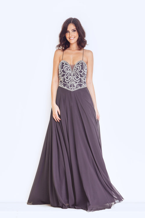 Dynasty 1013101 Long Clement Dress With Shawl
