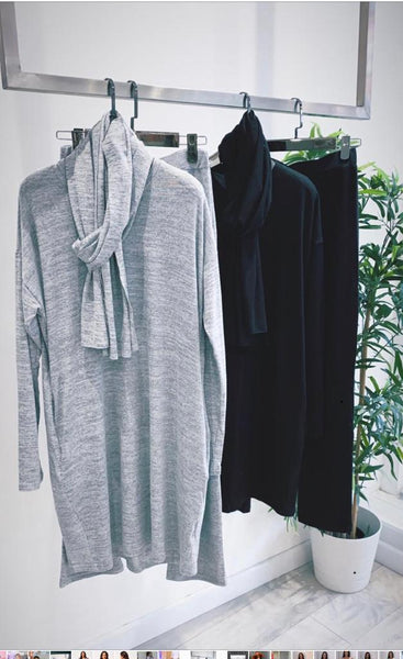 Black or Grey 3 piece loungewear set