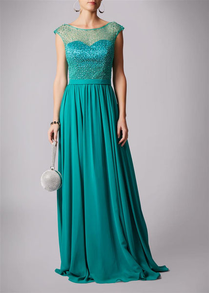 Mascara Pearl Top Long Dress