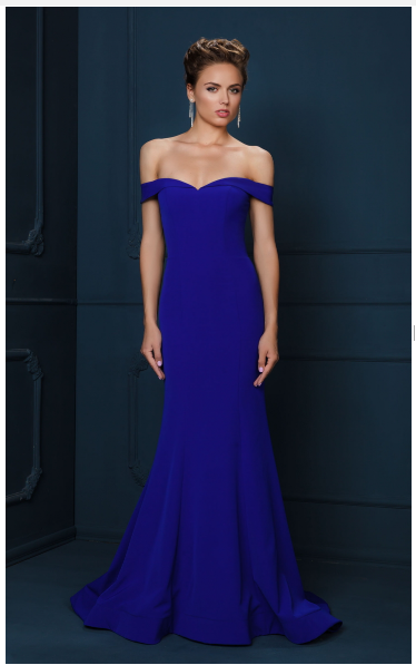 Dynasty 1023422 Navy Long Dress