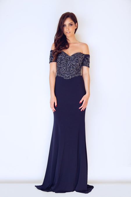 Gino Cerruti Off the shoulder 2020B Dress Navy