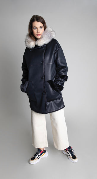 Urban code revivable faux shearling