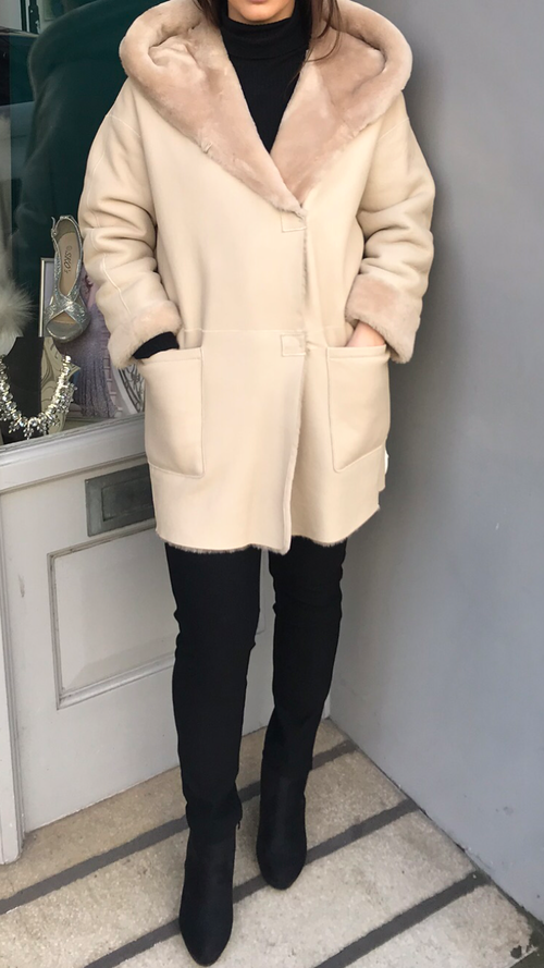 Gushlow and Cole Reversible Shearling  Coat