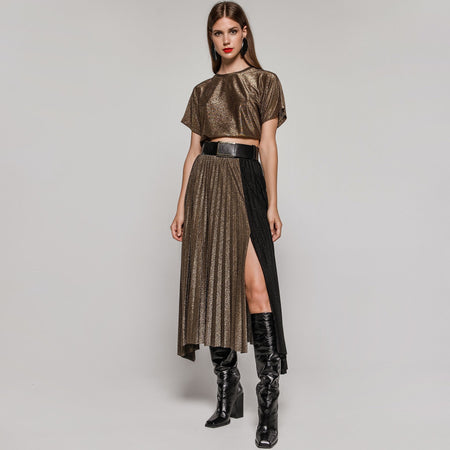 Pia Michi 1857 Cross Over Crepe Dress