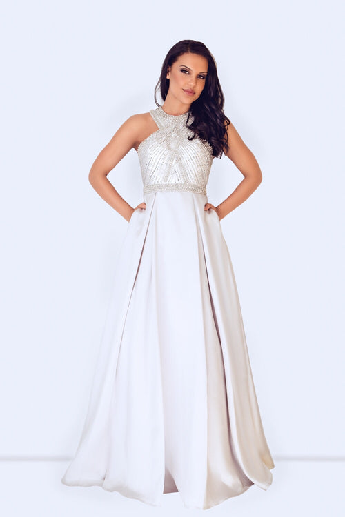 Dynasty 1023222 silver long dress