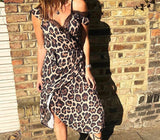 Libby Loves Scarlett Gold Leopard Dress