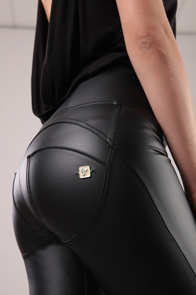 Freddy HIGH WAIST FAUX LEATHER SELF TONE ZIP