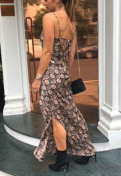 Libby Loves Dress-Marina Python Print