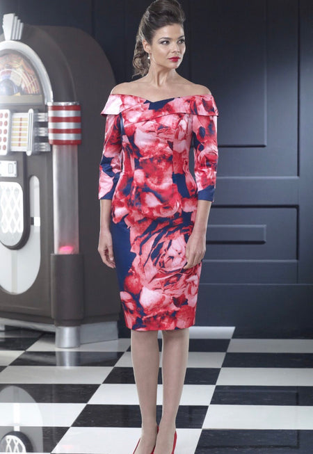 Kevan Jon Lotus Knee dress