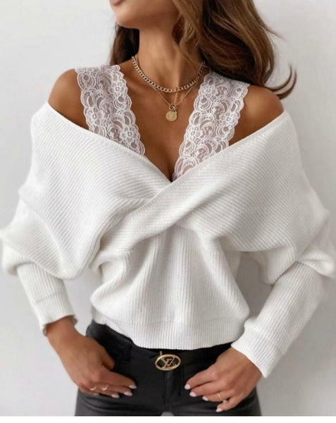 Lace detail off shoulder number